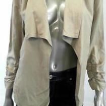 Grace Elements Open Front Misses Womens Stretch Blazer Sz M Beige Rouched Sale Photo