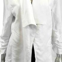 Grace Elements Open Front Misses Womens Stretch Blazer Sz Xs White Rouched Sale Photo