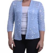 Grace Elements Open-Knit Sequined Cardigan Skylight Blue Xs Photo
