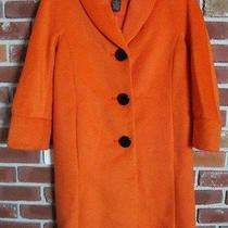Grace Elements Orange Prism Poly Soft Wool 3/4 Lgth Jacket Coat 4 Small New 128 Photo