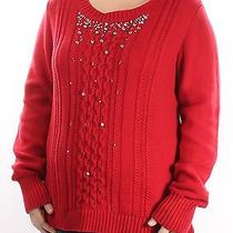 Grace Elements Red Scoop Neck Long Sleeve Sweater Xl Bb Photo