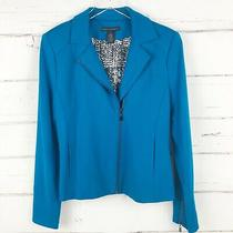 Grace Elements Size 4 Jacket Lined Dark Teal Blue Full Zip Collared Lined  Photo
