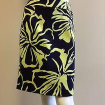 Grace Elements Size 8 Nwt Bouquet Navy/limeade Floral Printed Skirt Photo
