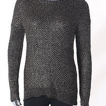 Grace Elements Size Large L New Black Gold Marled Knit Top Sweater 70 V8 Photo