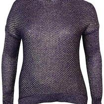 Grace Elements Size Small S Purple Marled Knit Top Sweater Open Knit Z9 Photo