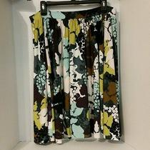 Grace Elements Skirt Size L Floral Print Photo