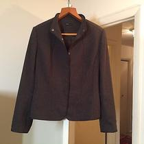 Grace Elements Solid Brown Button Longsleeved Work Jacket Coat Macy's L Nwot Photo