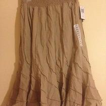 Grace Elements Tan Flare Modern Skirt Small Photo