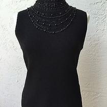 Grace Elements Turtleneck Shirt/top Sz L Black Gorgeous Photo