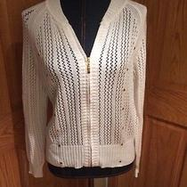 Grace Elements White Cardigan Size Large Photo