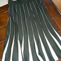 Grace Elements Woman Black Gray Knit Trumpet Style Skirt Size Medium New Tags  Photo