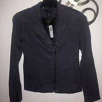 Grace Elements Women Jacket Blazer Sz 4 Gray  Photo