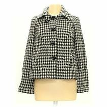 Grace Elements Women's Coat Size 8  White Black  Polyester Acrylic Wool Photo