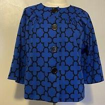 Grace Elements Women's Crop Blazer Button Front Size 14 Photo
