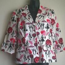 Grace Elements Women's Jacket Sz 12p Print Fully Lined Front Pockets Blazer Photo