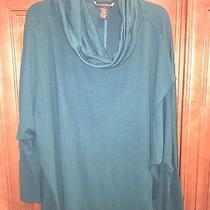 Grace Elements Women's Knit Cowl Neck Sweater Green Size Medium Photo