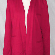 Grace Elements Women's Lined Salsa Red Open Front Blazer Size Medium M Photo