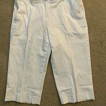 Grace Elements Women's White Knee Length Long Shorts With Front Pockets Size 6 Photo
