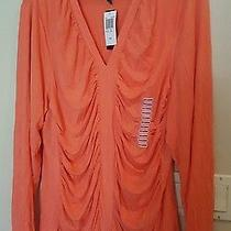 Grace Elements Womens Clothing Size Xxl v-Neck Clean Coral Photo