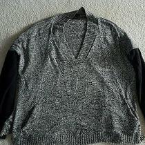 Grace Elements Womens Comfy Sweater Sz Xl Black/white Photo