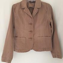 Grace Elements Womens Cotton Short Fitted Long Sleeve 3 Button Front Jacket Sz 4 Photo