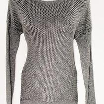 Grace Elements Womens Long Sleeve Scoop Hi Low L Gray Sweater Top 70 Nwt 8800 I Photo