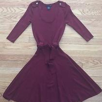 Grace Elements Womens Misses Dress Burgundy Red Stretch Rayon Knit Size S Photo