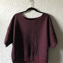 Grace Elements Womens Purple Plum Short Sleeve Pullover Sweater Top Size M Photo