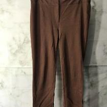 Grace Elements Womens Size 12 Brown Straight Leg Stretch Pants Elastic Waist Photo