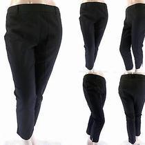 Grace Elements Womens Size 14 Flat Front Slacks Pants Crop Black Career Chop Photo