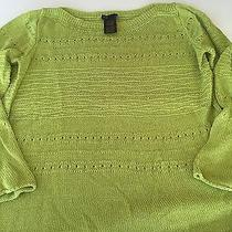 Grace Elements Womens Size Large Green Sweater Photo
