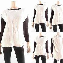 Grace Elements Womens Size M Pull Over Scoop Neck High-Low Hem Sweater Top Chop Photo