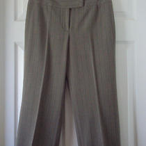 Grace Elements Womens Sz 8 Gray Pin Stripe Career / Dress Cropped Pants Euc Photo