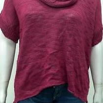 Grace Elements Womens Xl Pull Over Cowl Knit Sweater Woven Top Shirt Chop 2242z2 Photo