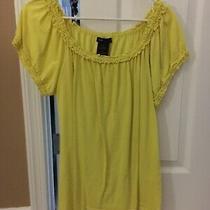 Grace Elements Xxl Yellow Ruffle Neck Shirt Photo