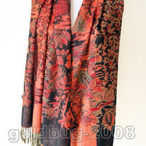 Graceful Fancy Grape Flower Women's 100% Pashmina Scarf Wrap Cape Tassel Photo