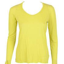 Graham & Spencer Womens Butternut Long Sleeve Scoop Neck Top P 108 New Photo