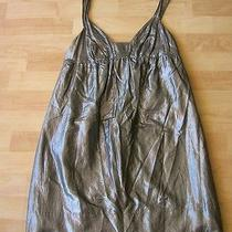 Graham Spencermetallic Cotton Silk Blend Silk Lining Above Knee Dress Size M Photo