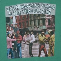 Grandmaster Flash & the Furious Five the Message T-Shirt Green Rap Classic M Photo