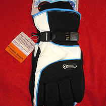 Grandoe Women's Element Winter Gloves Size Large Black / White / Blue - Nwt   Photo