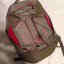 Gravis Backpack Green Red Wood Burton Bag  Photo