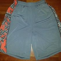 Gray and Orange Under Armour Shorts-Small Photo