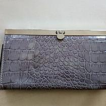 Gray Croc Clutch Wallet  Photo