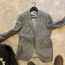 Gray Express Mens Producer 42 Regular Suit Coat Sport Coat Modern Fit Photo