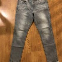 Gray Fade Wash Express Jeans  Stretch  Mid Rise Ankle Legging 10r Photo