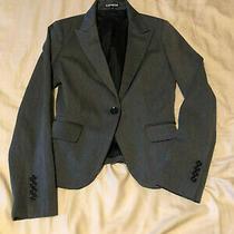 Gray Lined Express  Blazer Jacket Size O  Photo