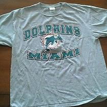- Gray - Nfl Dolphins Football Short  Sleeve Cotton/polyester  T-Shirt - L Photo