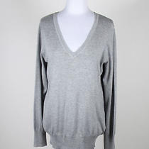 Gray Rayon the Limited Long Sleeve v-Neck Ribbed Trim Sweater Xl Photo