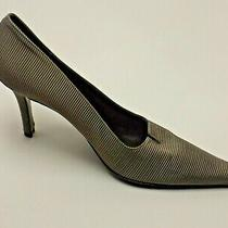 Gray Textile Burberry  Pump Classic Evening Casual  Wedding Work  Prom Shoes  Photo
