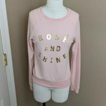 Grayson Threads Rose and Shine Sweatshirt Pink and Gold Size Xs Photo